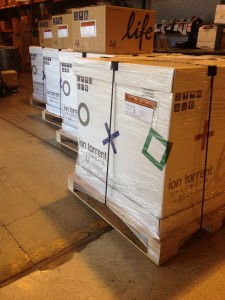 Ion Chef Shipments going out (photo credit to Michael Aken of Life Technologies)