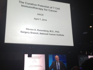 Steven Rosenberg, NCI at a 2014 AACR Plenary Session