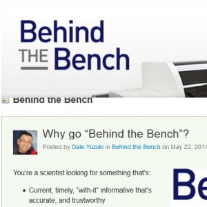 Behind the Bench blog from Life Technologies