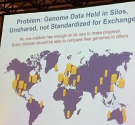 The problem of silo'ed, unshared and unstandardized genomic data