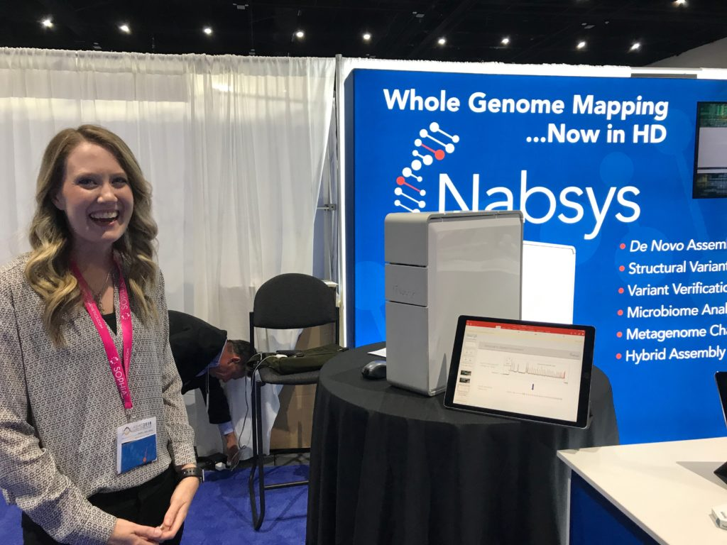 Photo of Nabsys 2.0's 2018 ASHG booth