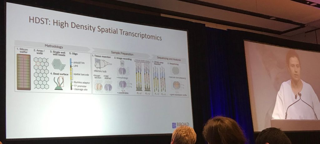 Dr. Sonja Vickovic at #AGBT19, courtesy of the author.