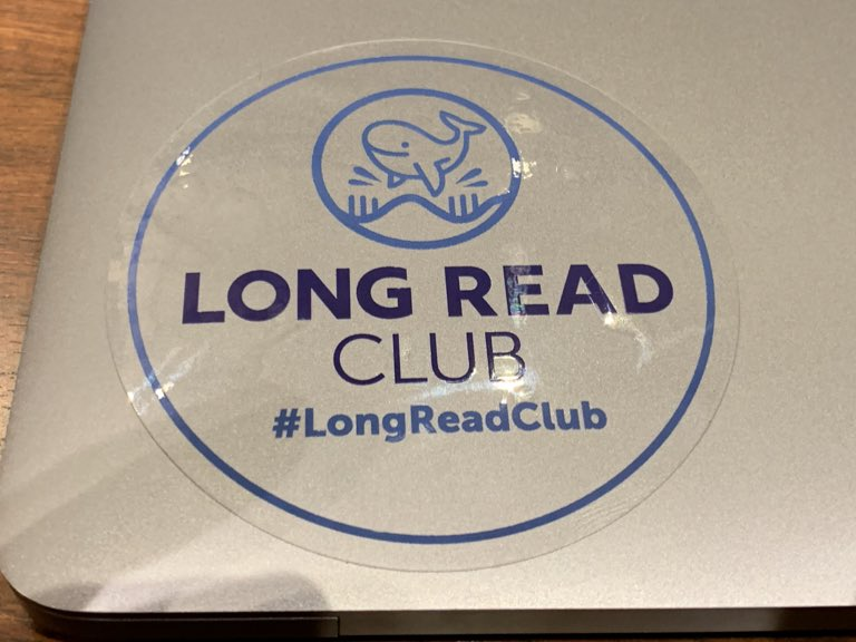 Long Read Club sticker at #AGBT19