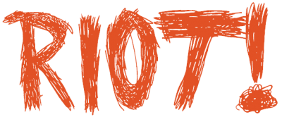 "Courtesy of Wikimedia, {a href=""http://commons.wikimedia.org/wiki/File:RIOT!.png""}Paramour Riot logo{/a}"