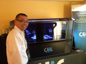 Standing in front of the CLiC LP at AGBT