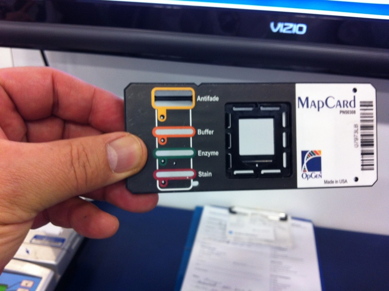 Photo of an OpGen mapping card