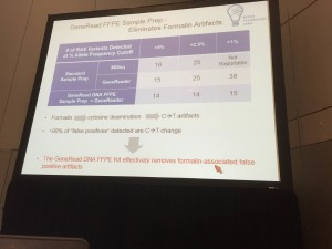 Slide showing improvement of the false-positive rate from FFPE